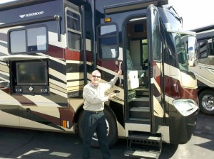 Photo of David welcoming you to the tour bus
